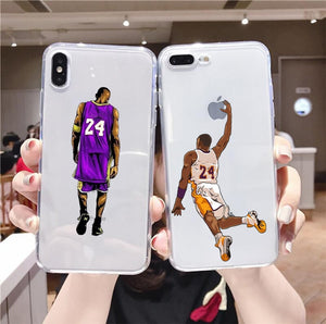 Legendary basketball Superstar 24 Transparent Soft Silicone iPhone Case