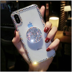 Sparkly Crystal Clear and Soft iphone Case - The Trendy Accessories Store