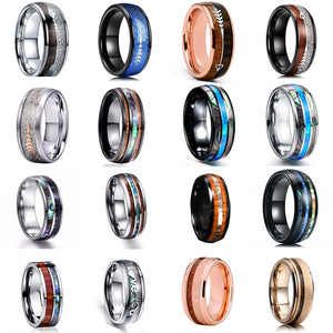 FDLK 24 Various Styles 8mm Fashion Luxury Carbide Rings - The Trendy Accessories Store