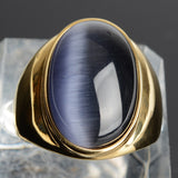 stainless steel Vintage Bohemia Gold Plated Oval Ring - The Trendy Accessories Store