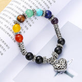 Filigree Heart Rainbow Chakra Women's Bracelet - The Trendy Accessories Store