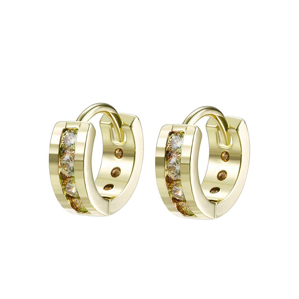 Classic Round Pave Huggie Earring - The Trendy Accessories Store