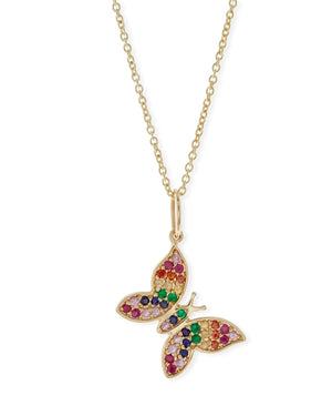 Rainbow Swarovski Elements Pendant Necklaces in - The Trendy Accessories Store
