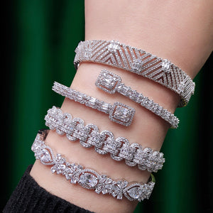 GODKI Trendy Luxury Stackable Bangle Cuff Crystal Bracelet - The Trendy Accessories Store