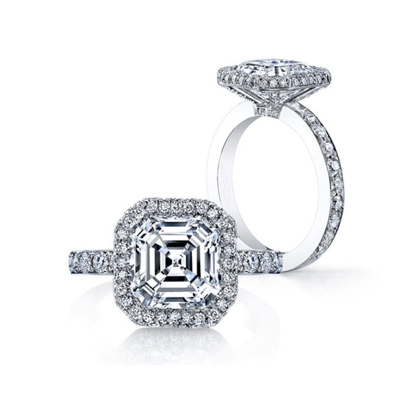 Asscher Cut Austrian Engagement Rings - The Trendy Accessories Store