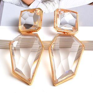 Clear And Pure Resin Elegant Drop Earrings - The Trendy Accessories Store