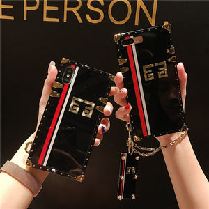 High Fashion Inspired Glossy Red Black iPhone and Samsung Phone Case - The Trendy Accessories Store