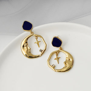 Vintage Drop Earring Inspired by Star Moon - The Trendy Accessories Store