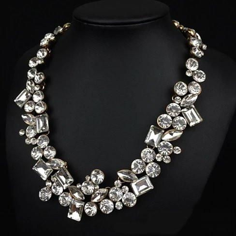 Hello Gorgeous! Diamond Crystal Statement Women's Necklace - The Trendy Accessories Store