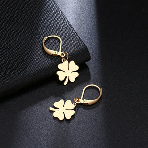 Clover Chic style Gold Platted Earrings - The Trendy Accessories Store