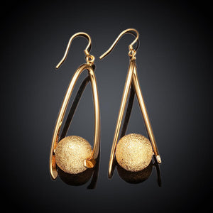 Matte Gold Plated Urban Drop Earring - The Trendy Accessories Store