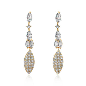 2.00 Ct Pear Cut Marquise Drop Earring in 18K Gold Plated - The Trendy Accessories Store