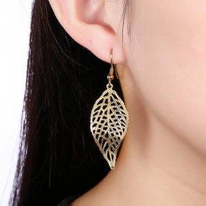 High Quality Marbella Leaf Drop Earring in 18K Gold Plated - The Trendy Accessories Store