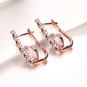 Leverback Earring in 18K Rose Gold Plated - The Trendy Accessories Store