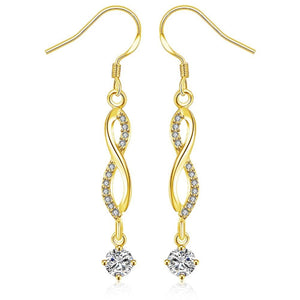 Infinity Drop Earring in 18K Gold Plated - The Trendy Accessories Store