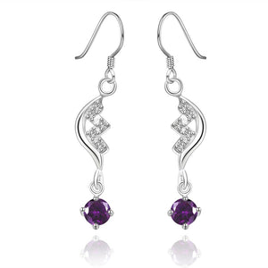 Amethyst Drop Earring in 18K  Gold Plated - The Trendy Accessories Store
