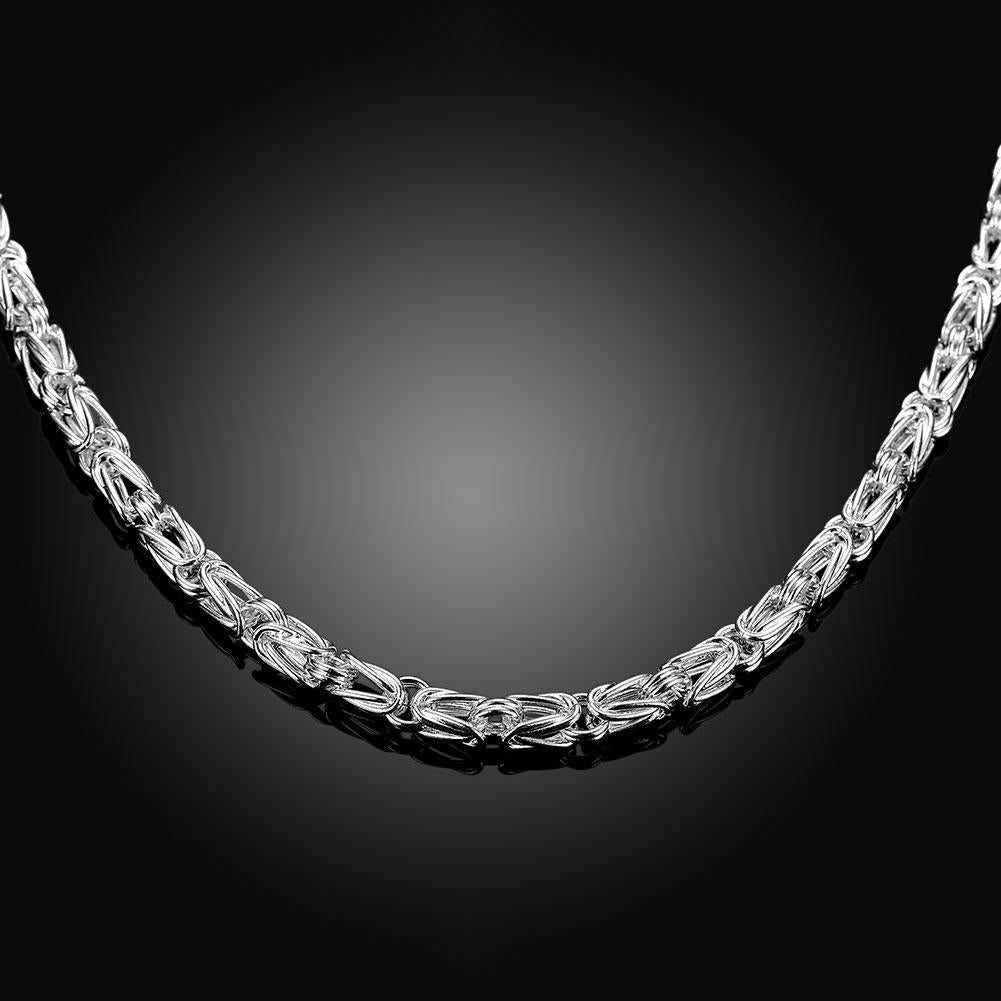 Byzantine Necklace in 18K White Gold Plated - The Trendy Accessories Store