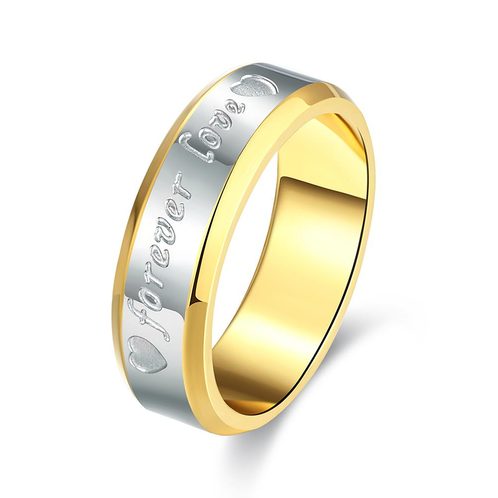 14K Gold Plating Forever Love Band Ring - The Trendy Accessories Store