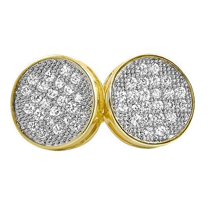 Medium Circle Micro Pave CZ Bling Bling Earrings - The Trendy Accessories Store