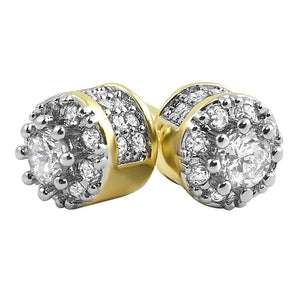 3D Cluster Micro Pave CZ Bling Bling Earrings - The Trendy Accessories Store