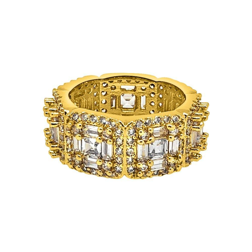 Baguette Cluster CZ Mens Hip Hop Ring - The Trendy Accessories Store