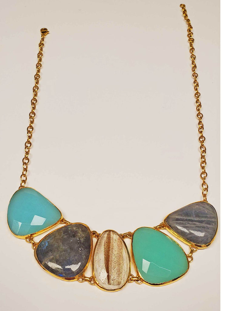 Multi Gemstone Statement Necklace - The Trendy Accessories Store