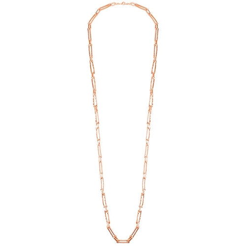 Elongated Link Long Necklace - The Trendy Accessories Store