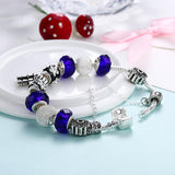 Blue crystal inspired Bracelet - The Trendy Accessories Store
