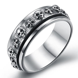 Skull Sterling Silver Ring - The Trendy Accessories Store