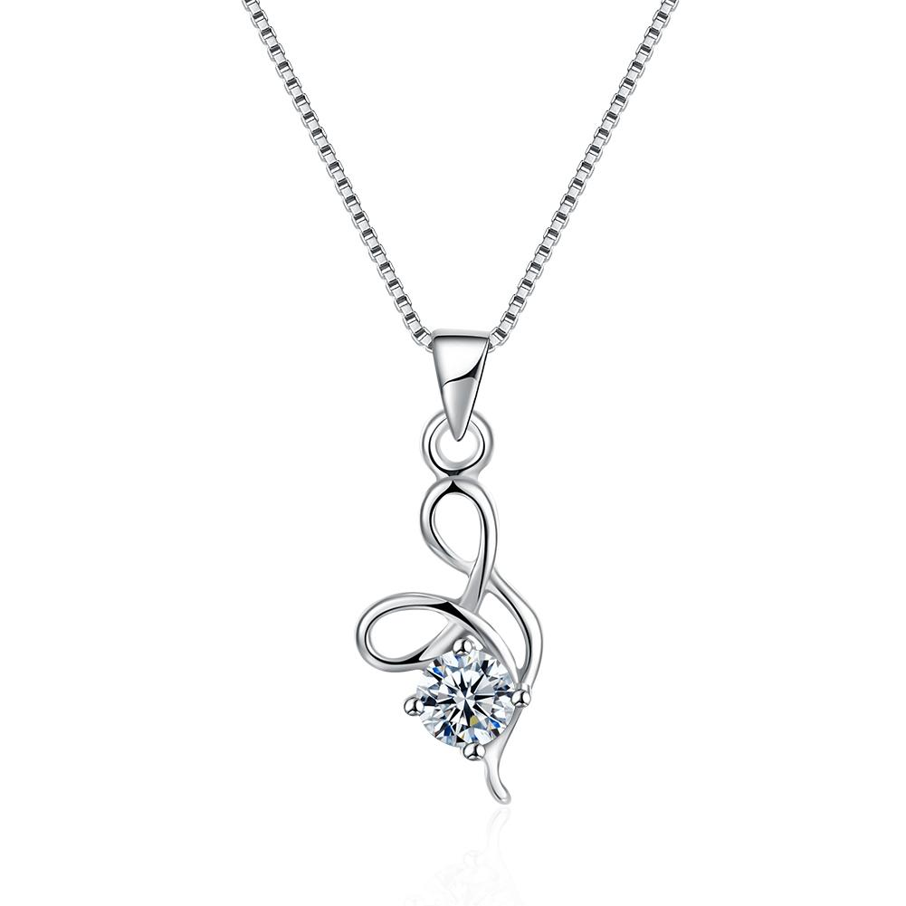 Sterling Silver with Crystals Necklaces - The Trendy Accessories Store