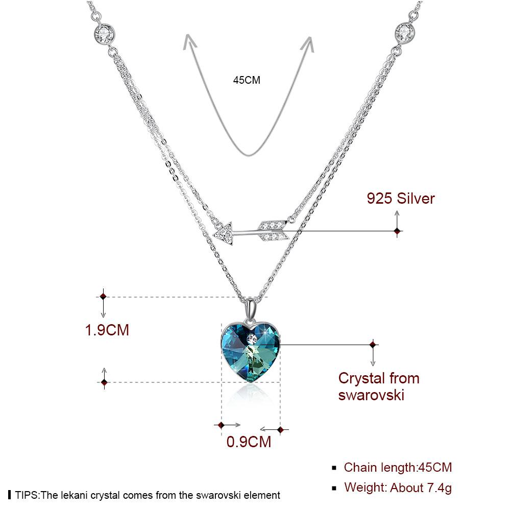 Sterling Silver Necklace with Stunning Swarovski Crystals - The Trendy Accessories Store