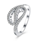 Sterling Silver Ring in Unique Shape - The Trendy Accessories Store