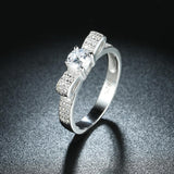 Sterling Silver Ring With Stunning Sparkly Bow Ties - The Trendy Accessories Store