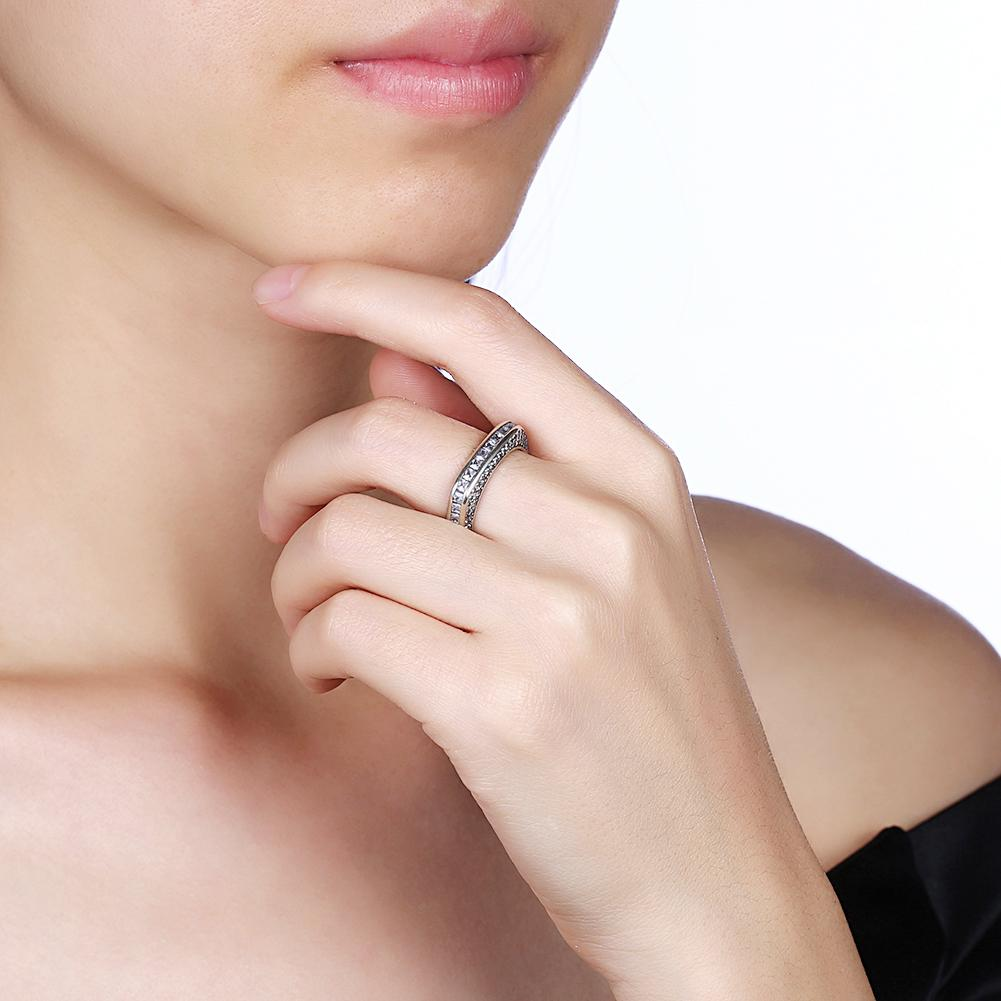 Eternity Baugette Sterling Silver Ring - The Trendy Accessories Store