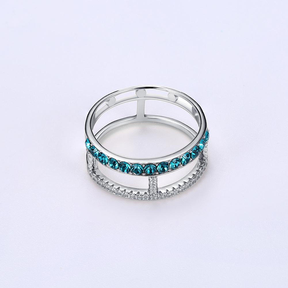 Blue Topaz Sterling Silver Ring - The Trendy Accessories Store