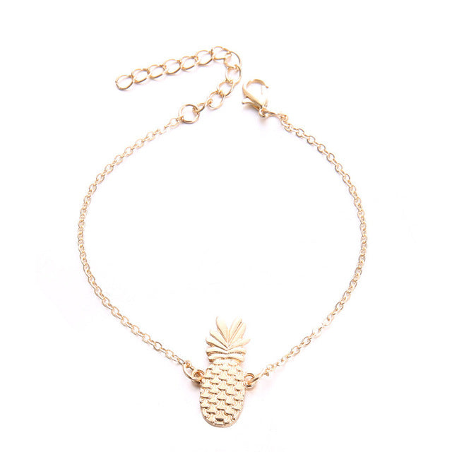 Chain Pineapple Anklet Jewelry - The Trendy Accessories Store