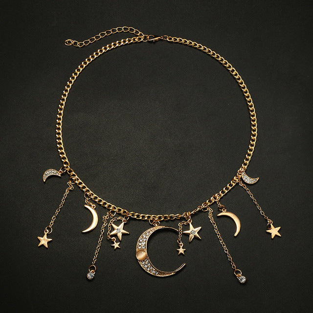 Women Simple Choker Necklace Star - The Trendy Accessories Store