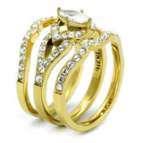 TK2743 IP Gold(Ion Plating) Stainless Steel Ring - The Trendy Accessories Store