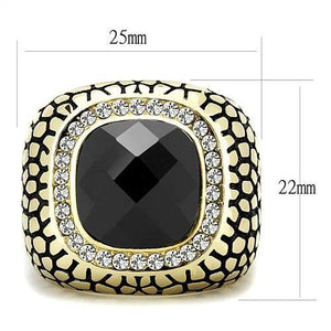 TK3221 IP Gold(Ion Plating) Stainless Steel Ring - The Trendy Accessories Store