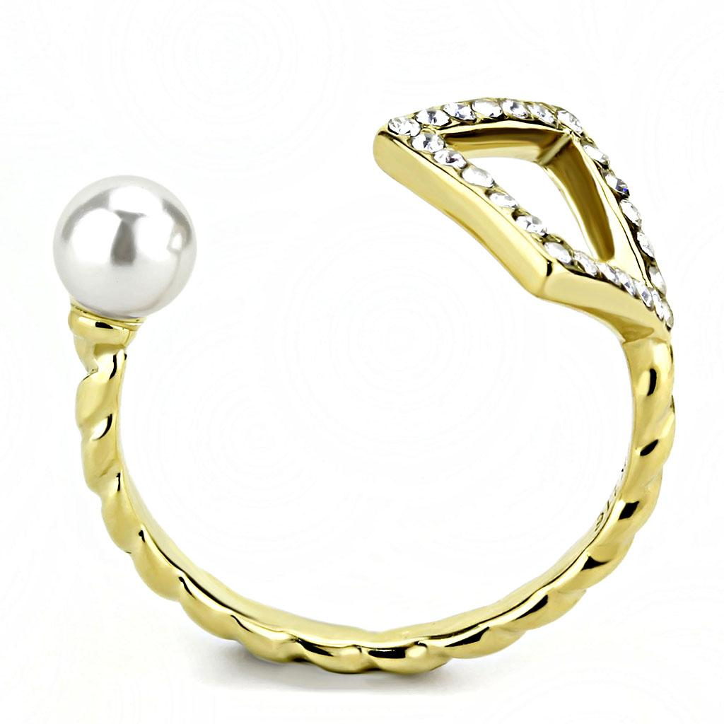 TK3523 IP Gold(Ion Plating) Stainless Steel Ring - The Trendy Accessories Store