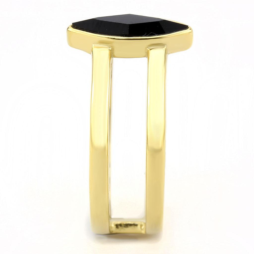 TK3591 IP Gold(Ion Plating) Stainless Steel Ring - The Trendy Accessories Store