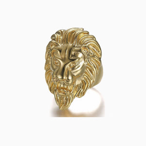 LION HEAD RING WITH GOLD PLATED - The Trendy Accessories Store