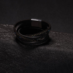 Leather Magnetic Bracelet - The Trendy Accessories Store