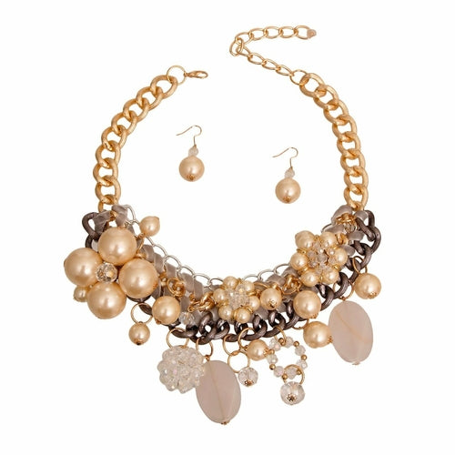 Cream Necklace Sets - The Trendy Accessories Store
