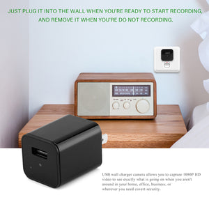 Hidden Camera HD 1080P USB Charger Home Security - The Trendy Accessories Store