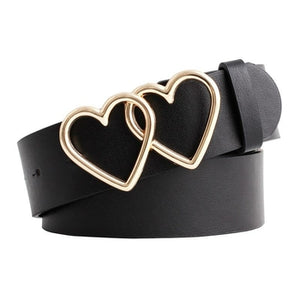 Hearts Design Buckle Belt - The Trendy Accessories Store
