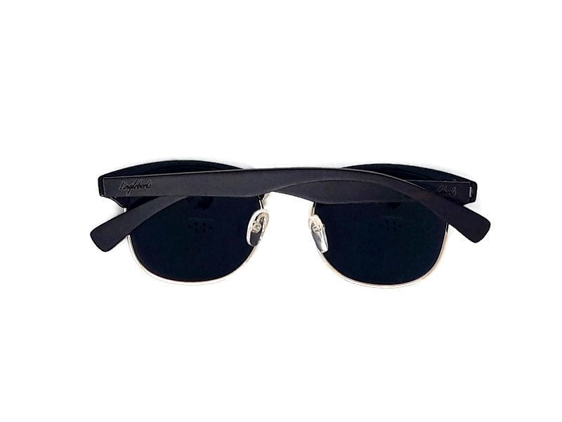 Midnight Black Bamboo Club Sunglasses, Polarized, HandCrafted - The Trendy Accessories Store
