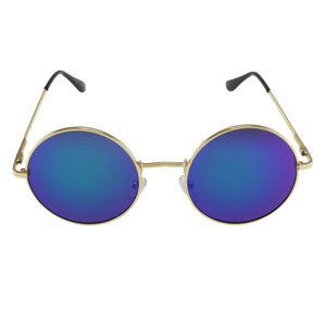 MQ Presley Sunglasses in Gold / Blue - The Trendy Accessories Store