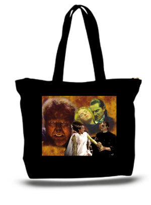 Monsters Frankenstein Dracula XXL Tote Bag For Groceries - The Trendy Accessories Store