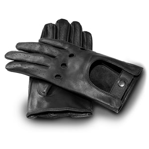 Motocycle Lover Black and Brown Leather Gloves - The Trendy Accessories Store